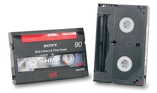 Digitalizace - převod Vido8 a Hi8 kazet