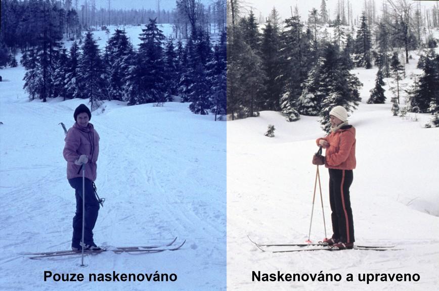 Skenování diapozitivů a negativů - úprava kvality fotografie