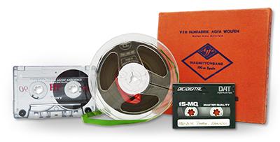 Uložení audiokazet a magnetofonových pásků